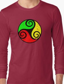 Reggae Flag Chilling Vibes - Cool Reggae Flag Colors Gifts Long Sleeve T-Shirt