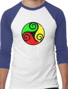 Reggae Flag Chilling Vibes - Cool Reggae Flag Colors Gifts Men's Baseball ¾ T-Shirt