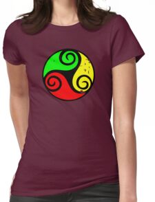 Reggae Flag Chilling Vibes - Cool Reggae Flag Colors Gifts Womens Fitted T-Shirt