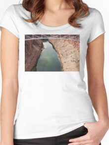 Navajo Bridge over Little CO River 04 Women's Fitted Scoop T-Shirt