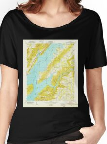USGS TOPO Map Alabama AL Columbus City 303567 1949 24000 Women's Relaxed Fit T-Shirt