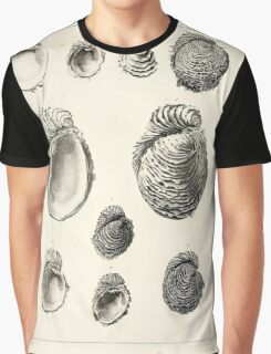 Description des coquilles fossiles des environs de Paris par GP Deshayes 1837 029 Fossil Shells Around Paris Graphic T-Shirt