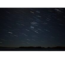 startrails over horse island Photographic Print