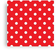 Polka dot fabric. Retro vector background Canvas Print