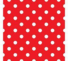 Polka dot fabric. Retro vector background Photographic Print