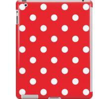 Polka dot fabric. Retro vector background iPad Case/Skin