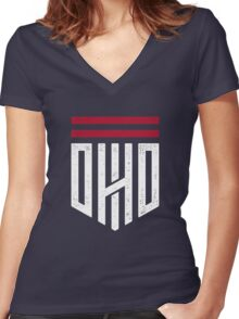 Ohio Shield Women's Fitted V-Neck T-Shirt