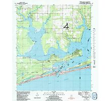USGS TOPO Map Alabama AL Orange Beach 304756 1980 24000 Photographic Print