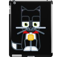 Cute Kitty Cat Black iPad Case/Skin