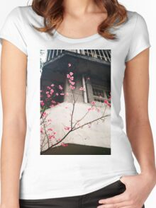 Flower Buds Decorative Shirt. Women's Fitted Scoop T-Shirt