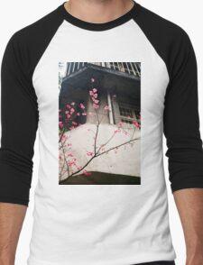 Flower Buds Decorative Shirt. Men's Baseball ¾ T-Shirt