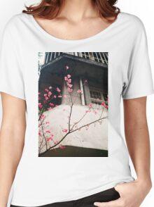 Flower Buds Decorative Shirt. Women's Relaxed Fit T-Shirt