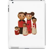 Red Peg Doll Family  iPad Case/Skin