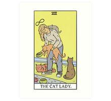 Modern Tarot - The Cat Lady Art Print