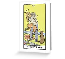 Modern Tarot - The Cat Lady Greeting Card