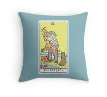 Modern Tarot - The Cat Lady Throw Pillow