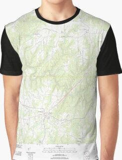 USGS TOPO Map Alabama AL Hackleburg 20110921 TM Graphic T-Shirt