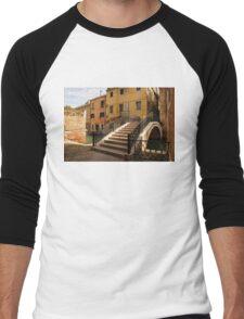 Venice, Italy - Intricate Wrought Iron Bridge Men's Baseball ¾ T-Shirt