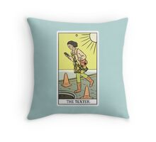 Modern Tarot - The Texter Throw Pillow