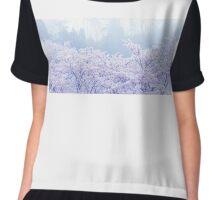 Foggy Blossom Tree Landscape Chiffon Top
