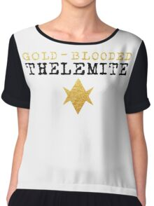 Gold-Blooded Thelemite (light background) Women's Chiffon Top