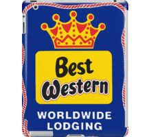 BEST WESTERN 4 iPad Case/Skin