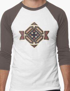 Cool Abstract Enchanting Shapes and Colors Men's Baseball ¾ T-Shirt