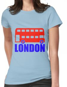 LONDON-DOUBLE DECKER BUS Womens Fitted T-Shirt