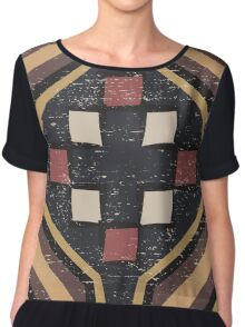 Cool Abstract Enchanting Shapes and Colors Chiffon Top
