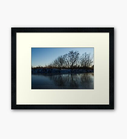 Icy Cool Blue Reflections Framed Print