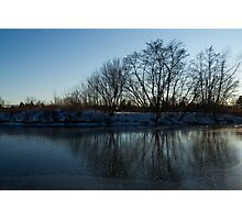 Icy Cool Blue Reflections Photographic Print