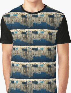 Reflecting on Malta - St. Julian's Harbor Charming Old Boats Graphic T-Shirt