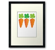 Three carrots orange vegetables Framed Print