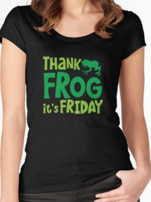 THANK FROG It's FRIDAY! Women's Fitted Scoop T-Shirt