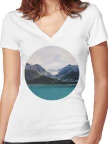 Alaska Wilderness Women's Fitted V-Neck T-Shirt