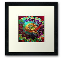 I'd rather be a hummingbird caged in your psychedelic heart Framed Print