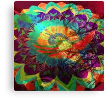 I'd rather be a hummingbird caged in your psychedelic heart Canvas Print