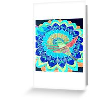 I'd rather be a hummingbird caged in your heart Greeting Card