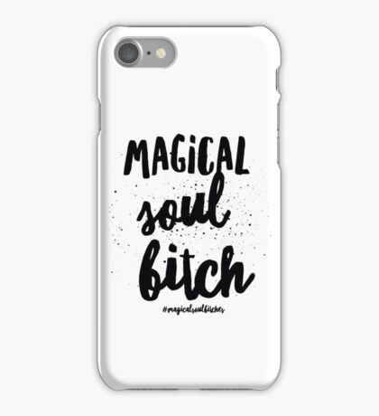 Magical Soul Bitch White Logo iPhone Case/Skin