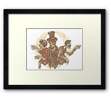 Gentleman Zombies Framed Print