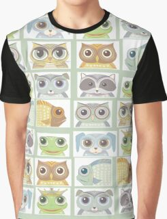 Portraits Of Animal Friends Graphic T-Shirt