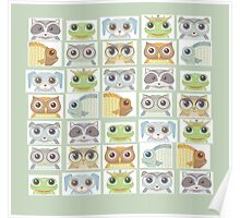 Portraits Of Animal Friends Poster