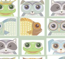 Portraits Of Animal Friends Sticker