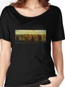 'Farmers' by Vincent Van Gogh (Reproduction) Women's Relaxed Fit T-Shirt