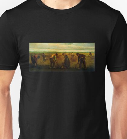 'Farmers' by Vincent Van Gogh (Reproduction) Unisex T-Shirt