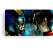 The Face off Canvas Print