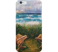 Chairs by a sea iPhone Case/Skin