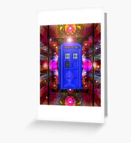 TARDIS IN THE EYE OF ORION 1 Greeting Card