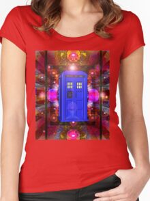 TARDIS IN THE EYE OF ORION 1 Women's Fitted Scoop T-Shirt