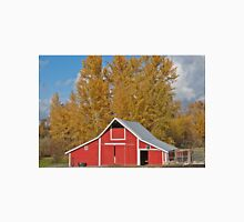 Red Barn and Fall Colors Unisex T-Shirt